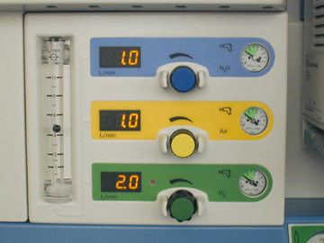 flow meter anesthesia machine