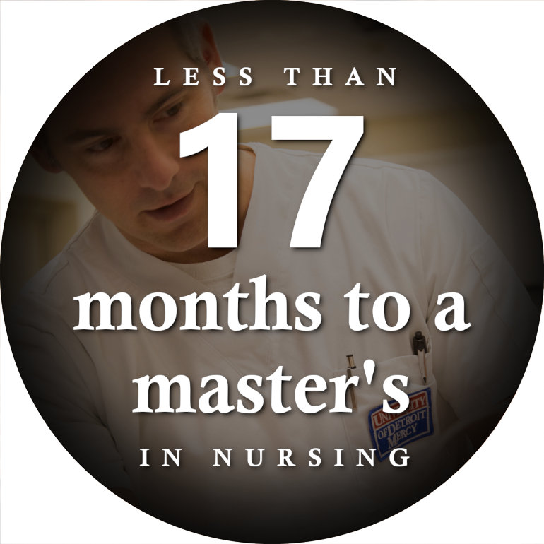 Less than 17 months to a masters degree in nursing!